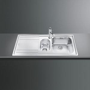 Кухонная мойка SMEG - LE102S-2