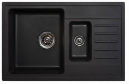 Кухонная мойка ORIVEL - QUADRO PLUS 1.5D черный