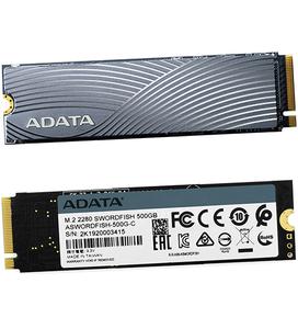 Твердотельный диск ADATA - ASWORDFISH-500G-C ASWORDFISH-500G-C