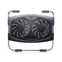 "Охлаждающая подставка для ноутбука Deepcool - Охлаждающая подставка для ноутбука, Deepcool, N2000 IV DP-N22N-N2000IV, 15.6"", Вентилятор 2*14см, 1000±10%RPM, 2*USB 2.0, 25,1дБл, Габариты 340х311х57мм, Чёрный (ID:AL02736)"