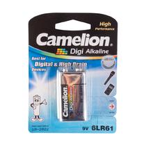 Батарейка CAMELION - 6LR61-BP1DG, Digi Alkaline, 6F22(крона), 9V, 680 mAh, 1 шт. в блистере
