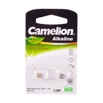 Батарейка CAMELION - AG0-BP2(0%Hg), Alkaline, AG0, 1.5V, 0% Ртути, 2 шт. в блистере