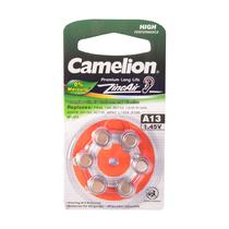 Батарейка CAMELION - A13-BP6(0%Hg),  Zinc Air, A13, 1.45V, 0% Ртути, 6 шт., Блистер