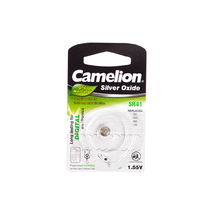 Батарейка CAMELION - SR41-BP1(0%Hg) , Silver Oxide, 1.55V, 0% Ртути, 1 шт., Блистер
