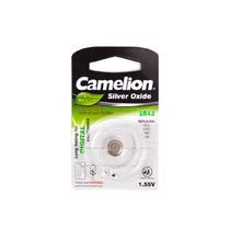 Батарейка CAMELION - SR43-BP1(0%Hg) , Silver Oxide, 1.55V, 0% Ртути, 1 шт., Блистер