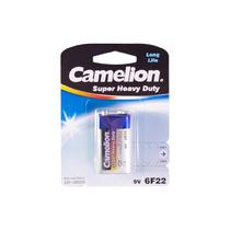 Батарейка CAMELION - 6F22-BP1B, Солевая, 6F22(крона), 9V, 680 mAh, 1 шт., Блистер
