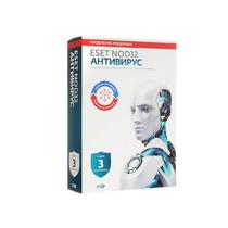 Антивирус ESET - NOD32 Антивирус универсальная лицензия 1 год на 3ПК или продление на 20 мec