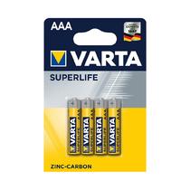 Батарейка VARTA - R03P Superlife, AAA, 1.5 V, 4  шт., Блистер