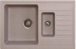 Кухонная мойка ORIVEL - QUADRO PLUS 1.5D бежевый