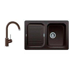Кухонная мойка BLANCO - 521313M2 Комплект Classic 45 S Silgranit кофе + Mida кофе (521313 + 524208)