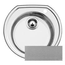 Кухонная мойка BLANCO - RONDOVAL нерж сталь декор (513314)