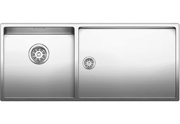 Кухонная мойка BLANCO - CLARON 400-550-Т-IF нержсталь зеркальная полировка (521599)