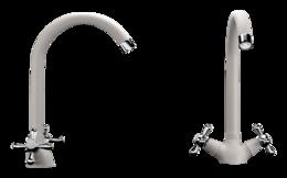 Кухонный смеситель ECOSTONE - 07 331 белый