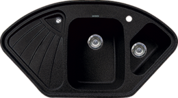 Кухонная мойка GRAN-STONE - GS 14K 308 черный