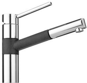 Кухонный смеситель FRANKE - 350  хром/оникс (115.0175.784)