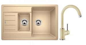 Кухонная мойка BLANCO - 521306M2 Комплект Legra 6S Compact Silgranit шампань + Mida шампань (521306 + 524206)