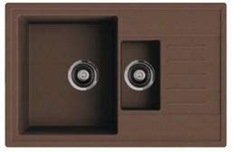 Кухонная мойка ORIVEL - QUADRO PLUS 1.5D коричневый