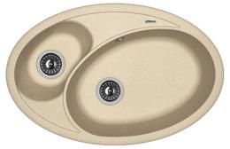 Кухонная мойка FLORENTINA - Селена 780 песочный FG