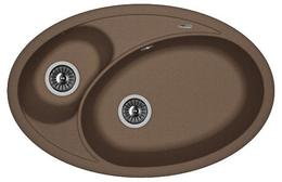 Кухонная мойка FLORENTINA - Селена 780 коричневый FG