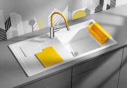 Кухонная мойка BLANCO - Sity XL 6 S белый аксессуары лимон (525055)