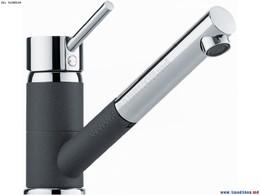Гранитный кухонный смеситель FRANKE - Sinta выдвижной шланг хром/оникс (115.0297.487) (в наличии) ID:NL014403