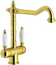 Гранитный кухонный смеситель FRANKE - Old England Clear Water с фильтрацией  золото (115.0370.685) (в наличии) ID:NL016230