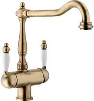 Гранитный кухонный смеситель FRANKE - Old England Clear Water с фильтрацией  бронза (115.0370.684) (в наличии) ID:NL016229