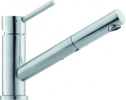 Кухонный смеситель FRANKE - Taros управление сверху выдвижной шланг  нерж. сталь (115.0047.987)